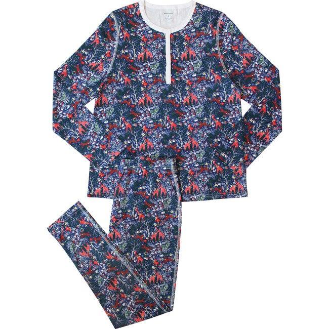Navy Women's Pajamas, Holly Jolly Jungle