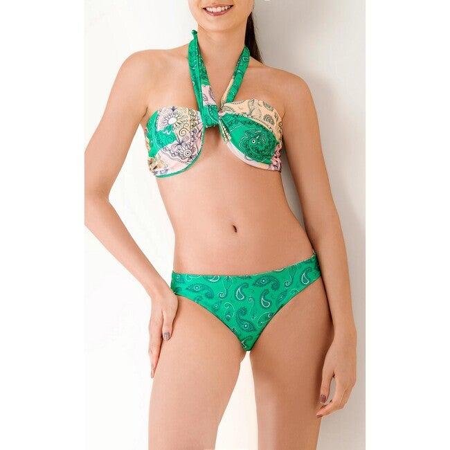 Women's Elisa Top, Paisley Green