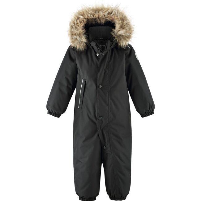 Reimatec Winter Snowsuit with Faux Fur Hood, Gotland Black