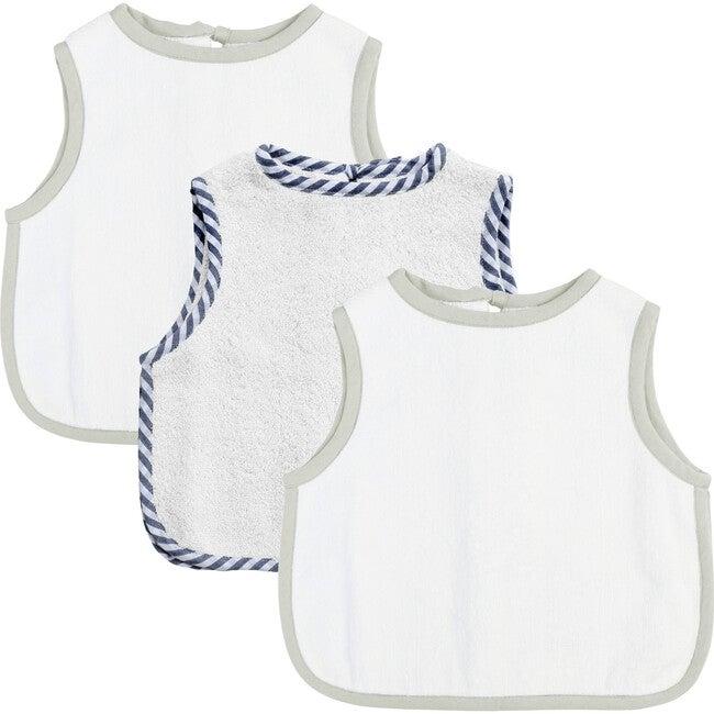 Apron Bib Gift Set, French Grey & Harbour Island Stripe