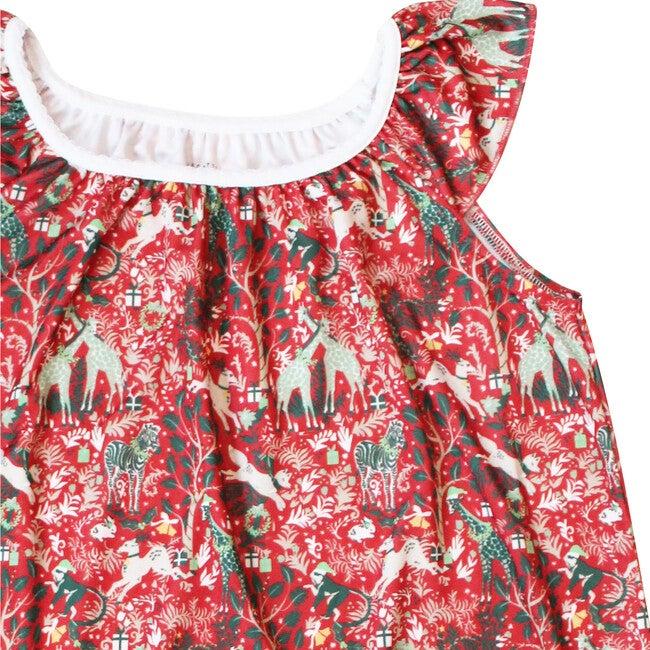 Red Marina Dress, Holly Jolly Jungle