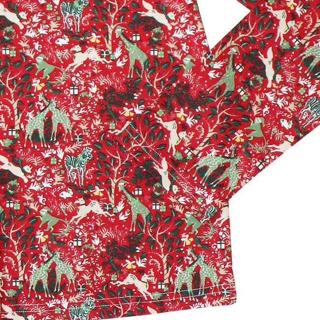 Red Women's Pajamas, Holly Jolly Jungle