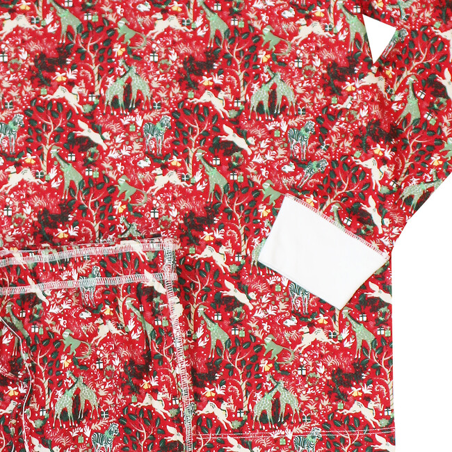 Red Men's Pajamas, Holly Jolly Jungle