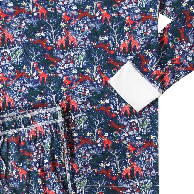 Navy Men's Pajamas, Holly Jolly Jungle