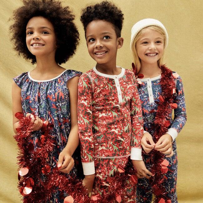 Red Kids Pajamas, Holly Jolly Jungle