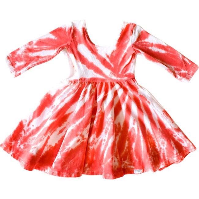Holiday Twirly Dress, Candy Cane Tie Dye