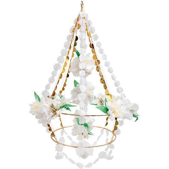 White Blossom Chandelier