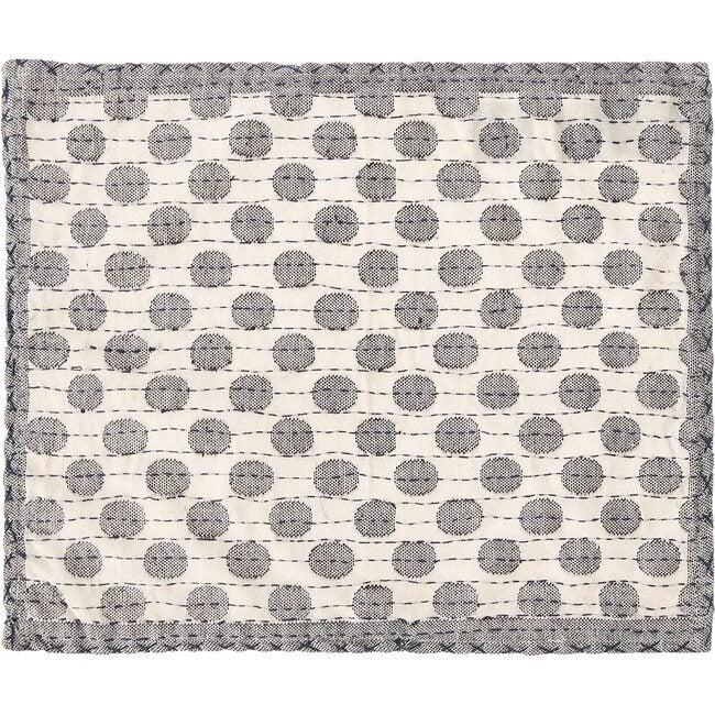 Artisan Hand Loomed Place Mat Set, Grey Dots