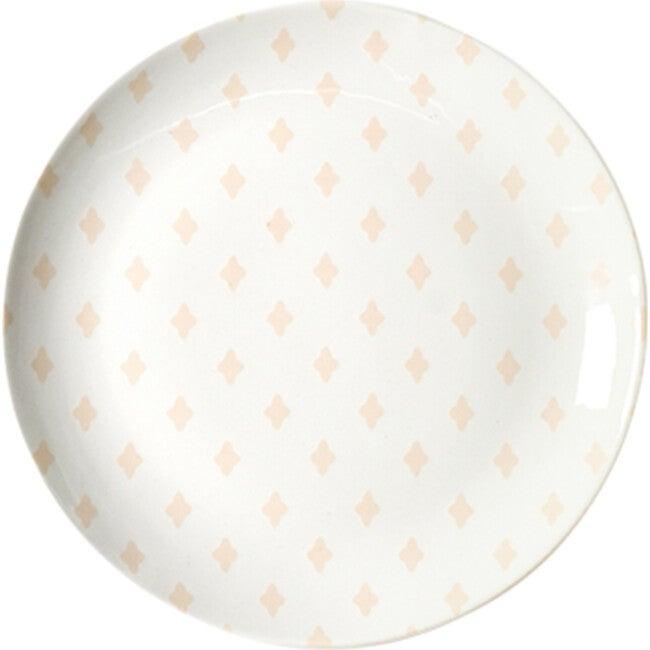 Quatrefoil Plate, Blush