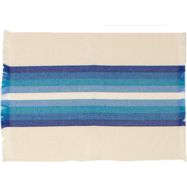 Striped Woven Placemats, Blue