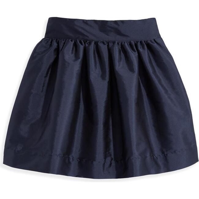 Party Skirt, Navy Taffeta