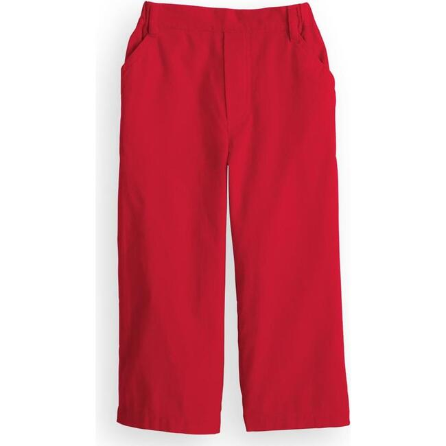 Corduroy Faux Zip Pant, Red