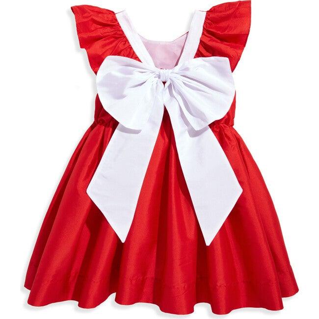 Edenham Dress, Red with White Bow