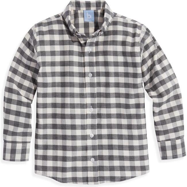 Buttondown Shirt, Grey Check