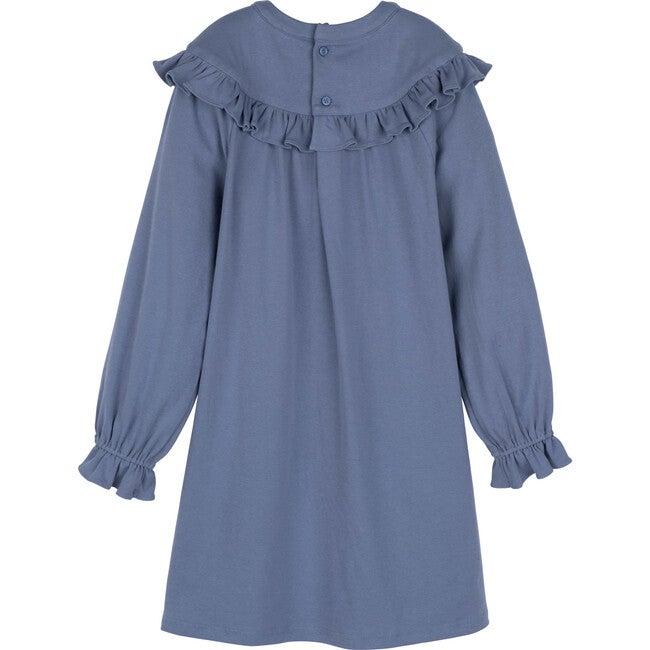 Octavia Jersey Dress, Dusty Blue