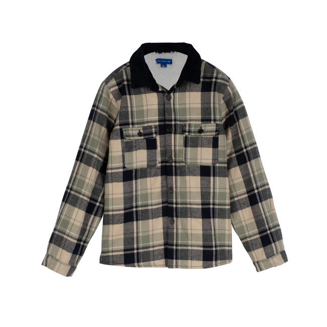 Sam Sherpa Shirt, Sage Multi