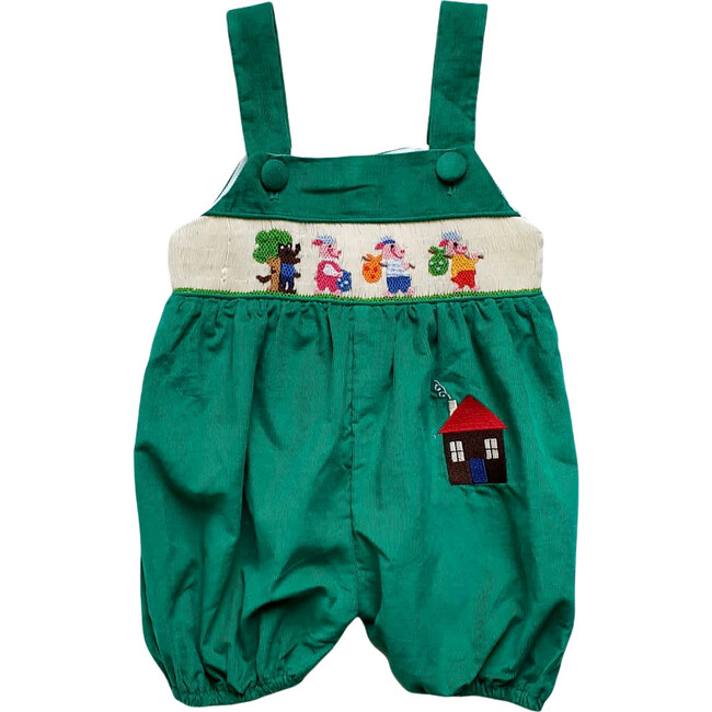 Little Pigs Dungarees, Green