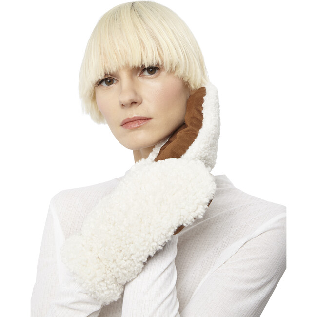 Women's Adley Gloves, Camel Ivory