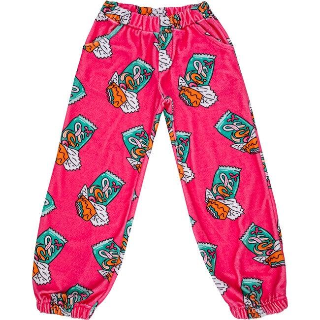 Velour Balloon Pants, Candy Bar Hot Pink