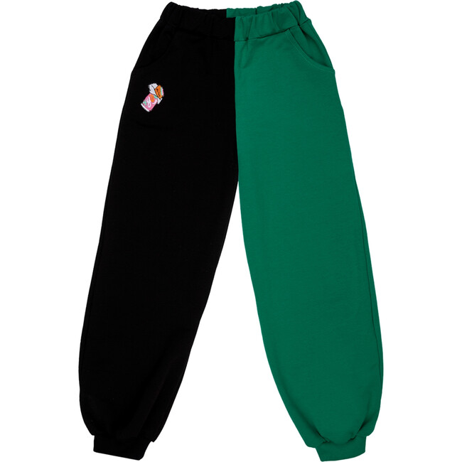Balloon Sweatpants, Candy Bar Black/Green