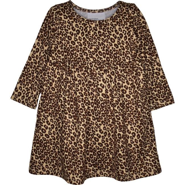 UPF 50+ Lumi Long Sleeve Tee Dress, Luxxe Leopard
