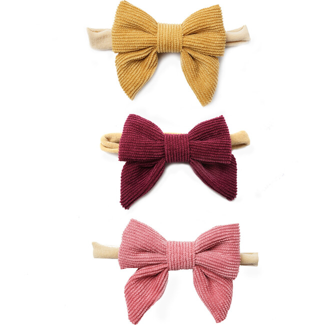 Fall Flavors Corduroy Bow Headband Set