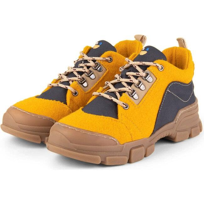 Mustard.Dark Grey Chunky Runners, Multi-color