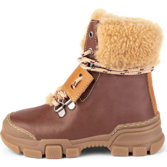 Brown.Camel Chunky Boots, Multi-color