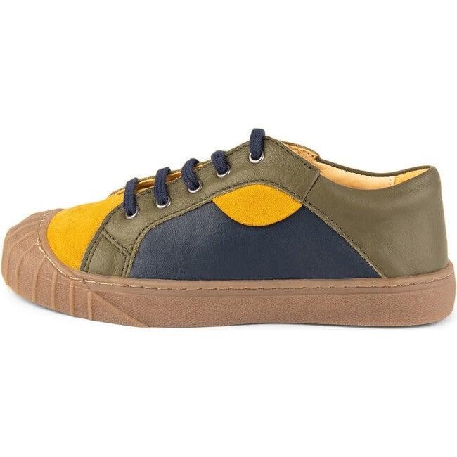 Mustard.Olive Retro Sneakers, Multi-color