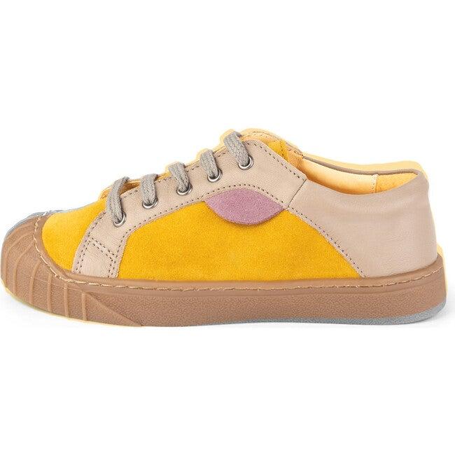 Mustard.Beige Retro Sneakers, Multi-color