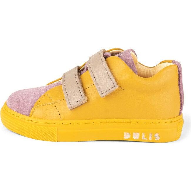 Mauve.Mustard Minimalist Strap Sneakers, Multi-color