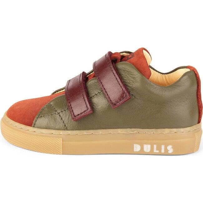 Muskat.Olive Minimalist Strap Sneakers, Multi-color