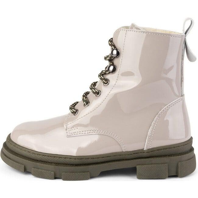 Beige Combat Boots, Beige