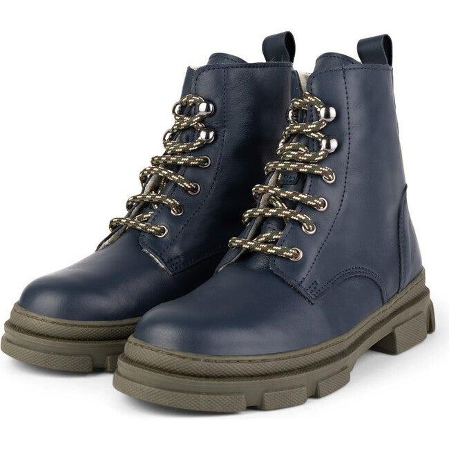 Dark Blue Combat Boots, Dark Blue