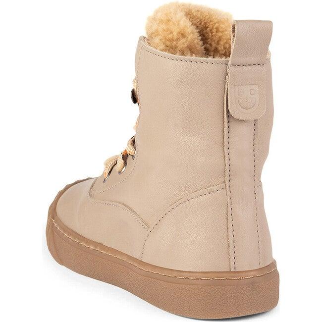 Beige Hi-Top Sneakers, Beige