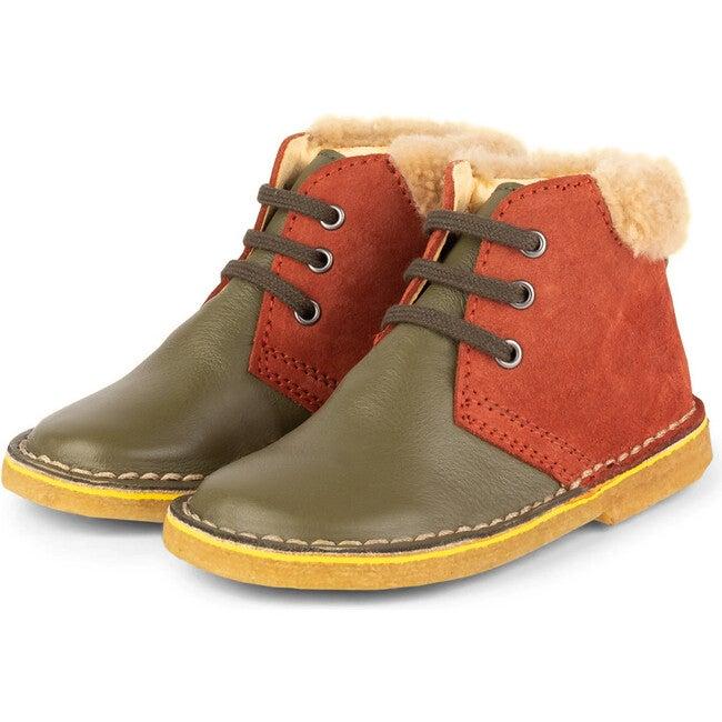 Olive.Muskat Desert Boots, Multi-color