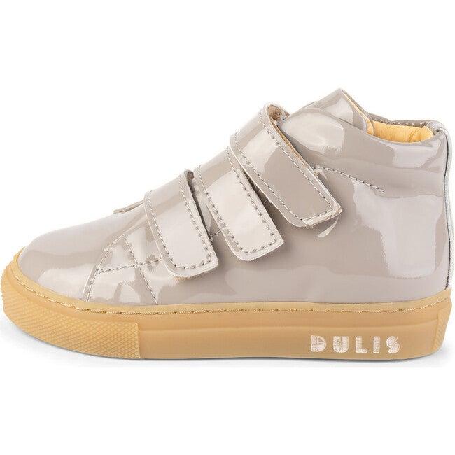 Beige Strap Mid Sneakers, Beige