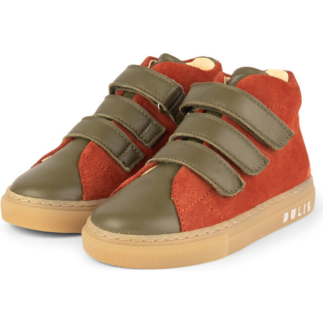 Olive.Muskat Strap Mid Sneakers, Multi-color