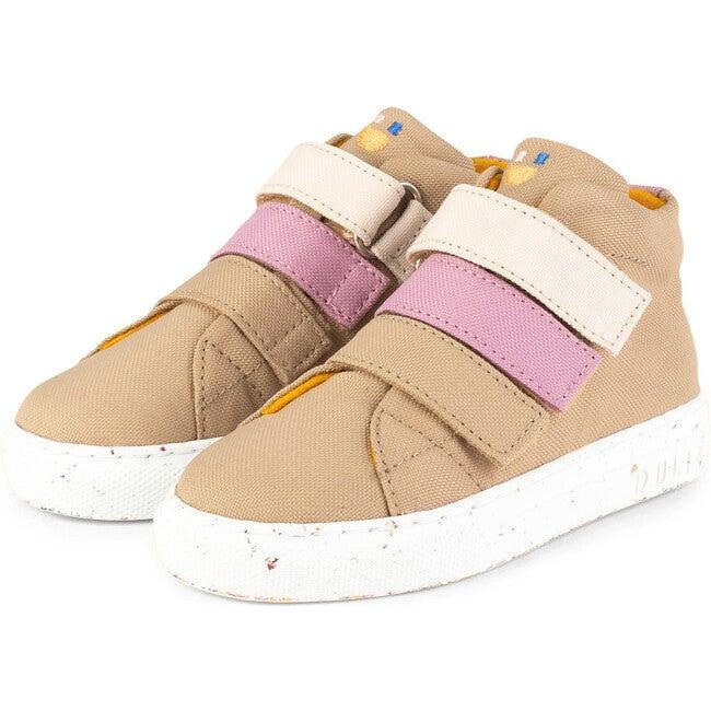 Beige Eco Strap Mid Sneaker, Beige