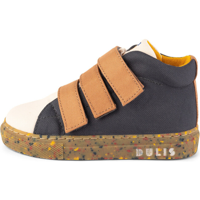 Crude.Dark Grey Eco Strap Mid Sneaker, Multi-color