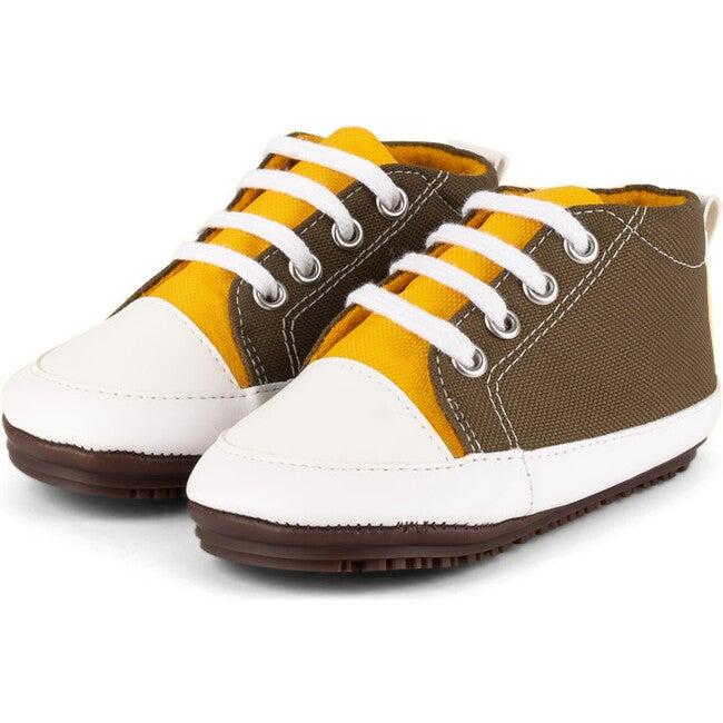Mustard Eco Sneaker Booties, Mustard