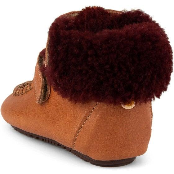 Brandi.Mustard Strap Sheep Boots, Multi-color