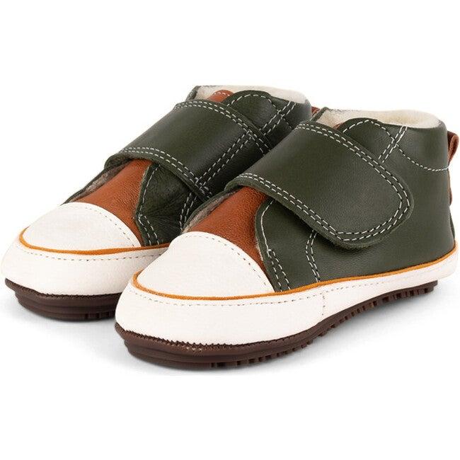 Brandi.Olive Strap Sneaker Booties, Multi-color