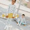 Dahl Halloween Pajama Set, Skeleton Skater - Pajamas - 2
