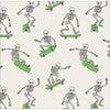 Dahl Halloween Pajama Set, Skeleton Skater - Pajamas - 5