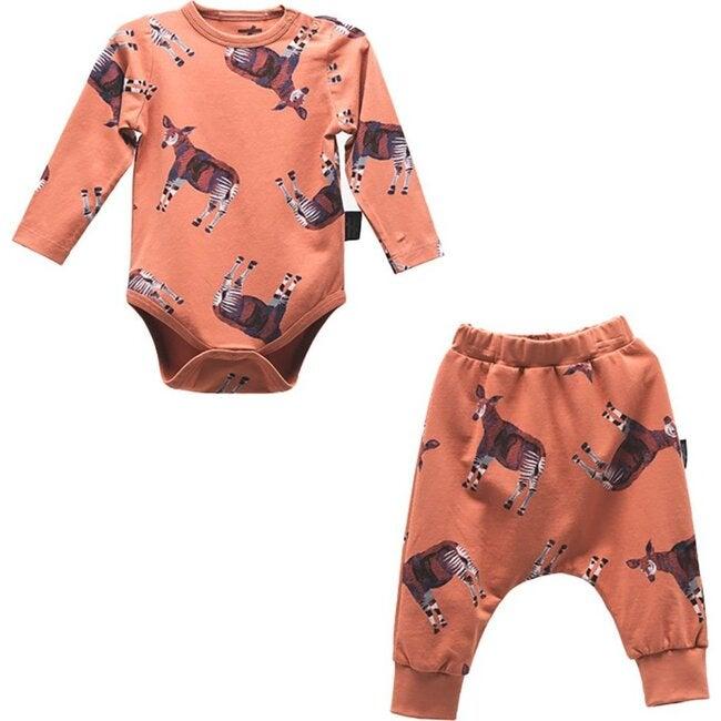 Deer Bodysuit Outfit, Terra Cotta