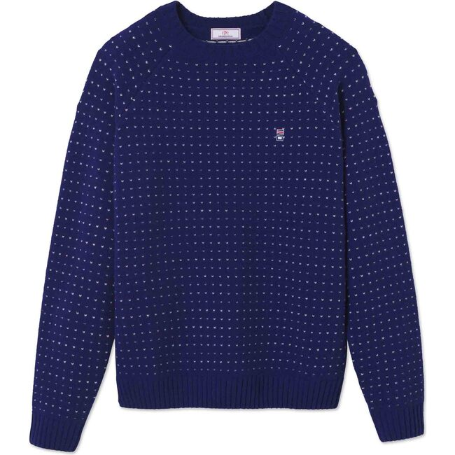 Men's Hunter Birdseye Crewneck Sweater, Blue Ribbon