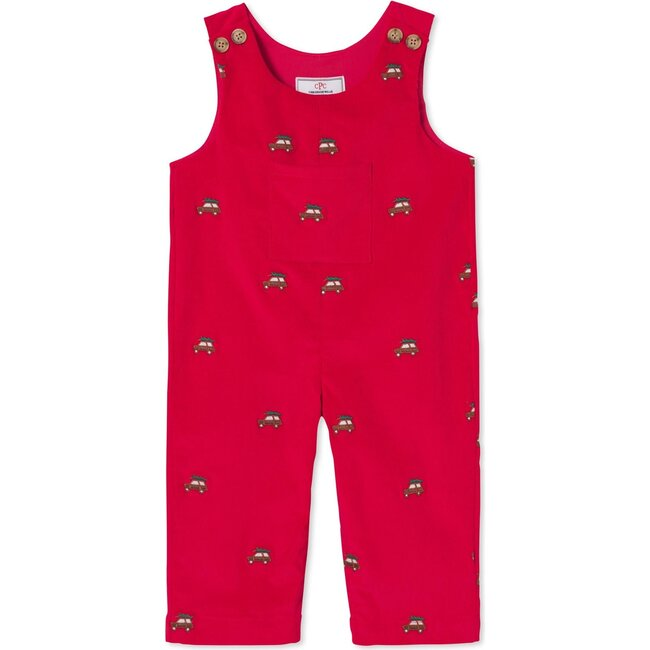 Tucker Overall, Crimson With Woody Embroidery