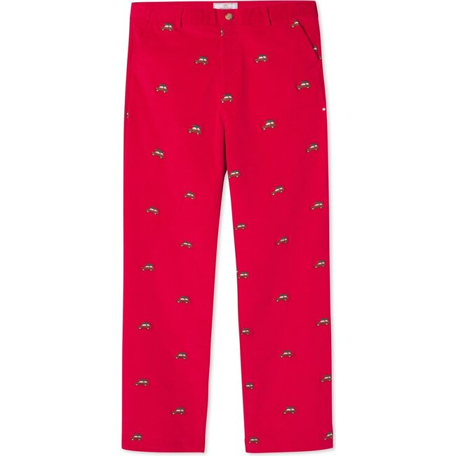 Gavin Pant, Crimson With Woody Embroidery