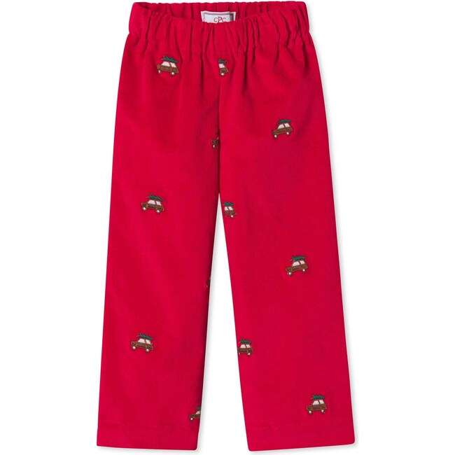 Myles Pant, Crimson With Woody Embroidery